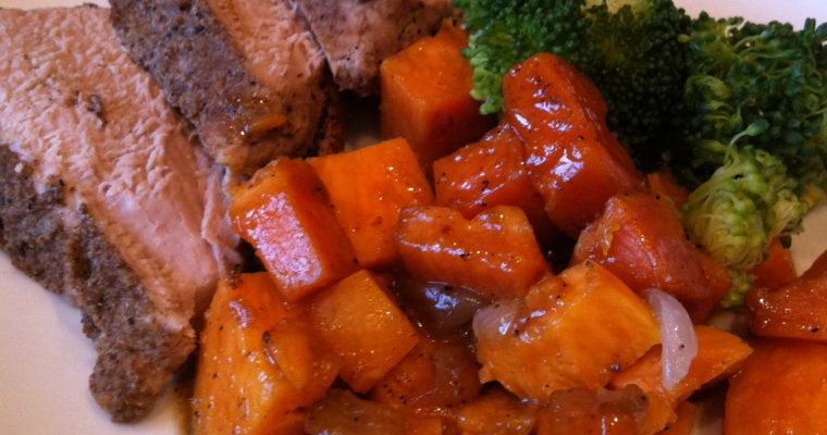 Cumin Pork Tenderloin and Sweet Potatoes