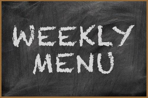 Weekly Menu:  12/7/2015