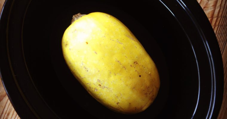 Spaghetti Squash in the Slow Cooker