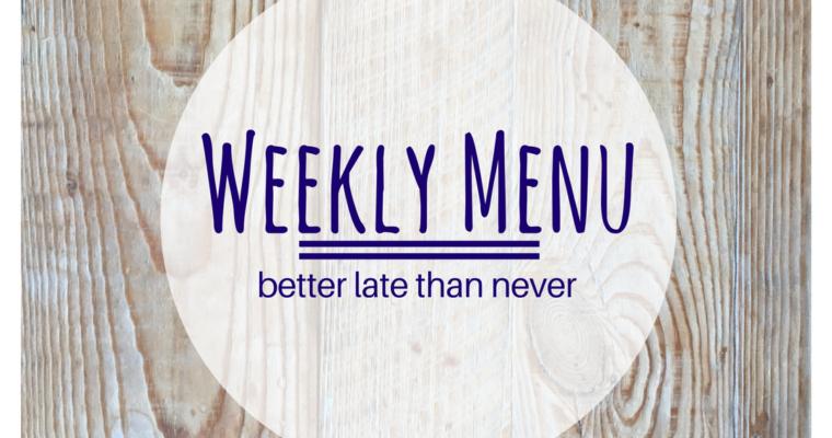 Weekly Menu:  February 5, 2018