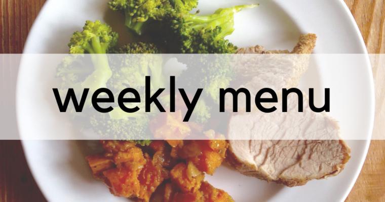 Weekly Menu: 2/26/2019