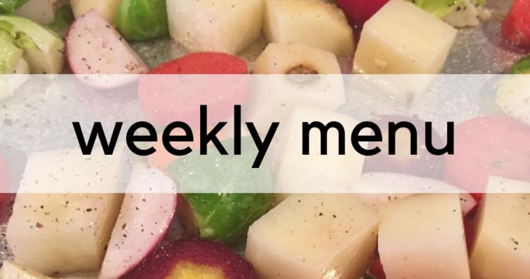 Weekly Menu:  3/11/2019