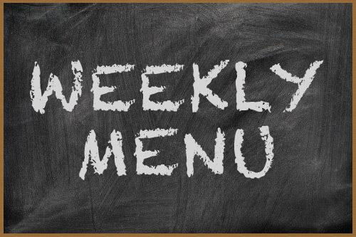 Weekly Menu:  6/20/2015