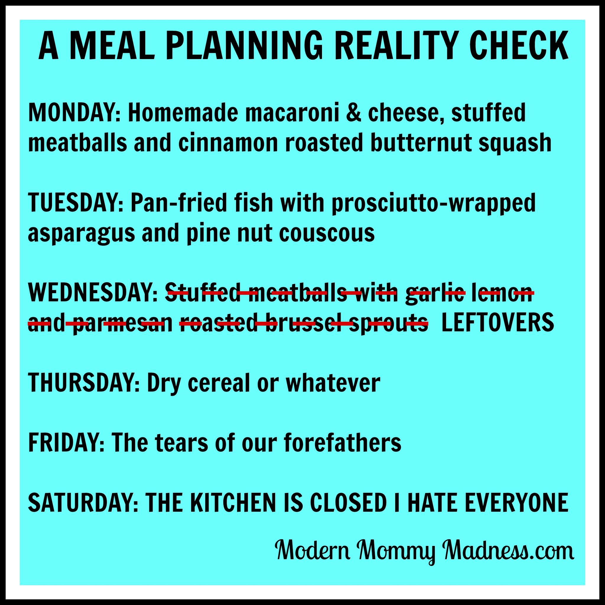 Three Simple Rules for Menu Planning